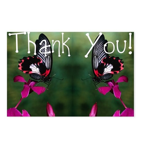 Thank You Butterflies Postcards (Package of 8)