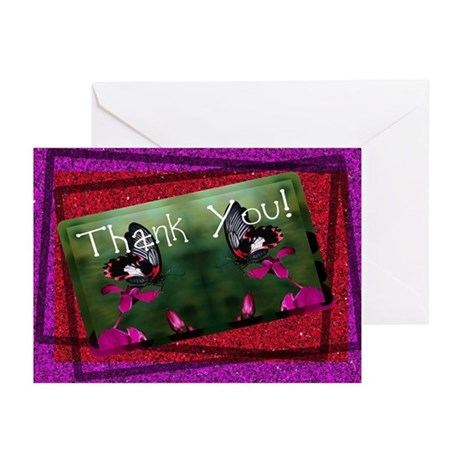 Thank You Butterflies Greeting Cards (Pk of 10)
