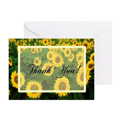 Sunflower Field Thank You Greeting Cards (Pk of 10
