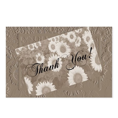 Sunflower Thank You Postcards (Package of 8)