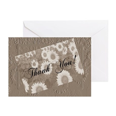 Sunflower Thank You Greeting Cards (Pk of 10)