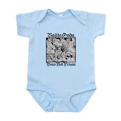 PEACE NOT PRISON Infant Bodysuit