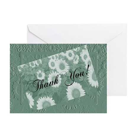 Sunflower Thank You Greeting Cards (Pk of 20)