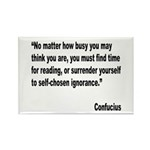 Confucius Reading Quote Rectangle Magnet (10 pack)