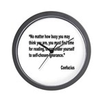 Confucius Reading Quote Wall Clock