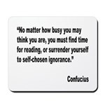 Confucius Reading Quote Mousepad