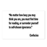Confucius Reading Quote Postcards (Package of 8)