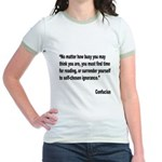 Confucius Reading Quote Jr. Ringer T-Shirt
