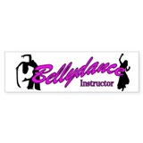 Instructor Pink Bumper Car Sticker