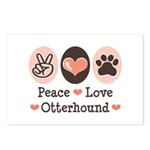 Peace Love Otterhound Postcards (Package of 8)