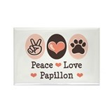 Peace Love Papillon Rectangle Magnet