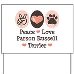 Peace Love Parson Russel Terrier Yard Sign