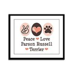 Peace Love Parson Russel Terrier Framed Panel Prin
