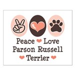 Peace Love Parson Russel Terrier Small Poster