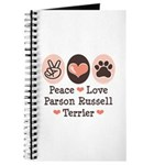 Peace Love Parson Russel Terrier Journal