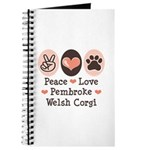 Peace Love Pembroke Corgi Journal