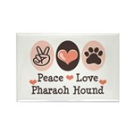 Peace Love Pharaoh Hound Rectangle Magnet (10 pack