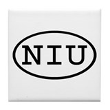 NIU Oval Tile Coaster