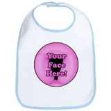 Pink Face Rest Bib