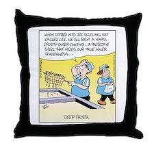 Deep Fryer Throw Pillow