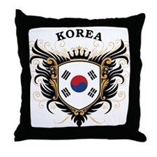 S. Korea Throw Pillow