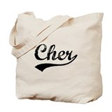 Vintage Cher (Black) Tote Bag