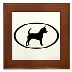 Chihuahua Oval Framed Tile