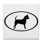Chihuahua Oval Tile Coaster