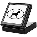 Chihuahua Oval Keepsake Box