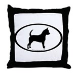 Chihuahua Oval Throw Pillow
