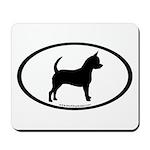 Chihuahua Oval Mousepad