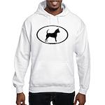 Chihuahua Oval Hooded Sweatshirt