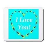 I Love You Fireflies Mousepad