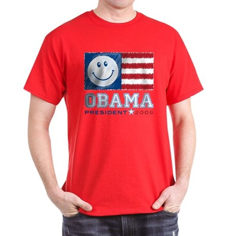 Obama Smiles Dark T-Shirt