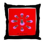 The firefly goddess in red Throw Pillow