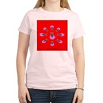 The firefly goddess in red Women's Pink T-Shirt