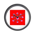 The firefly goddess in red Wall Clock