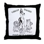 C HarlStandOut Great Dane Throw Pillow