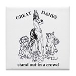 C HarlStandOut Great Dane Tile Coaster