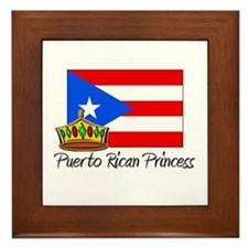 Puerto Rican Princess Framed Tile