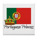 Portuguese Princess Tile Coaster