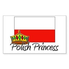 Polish Princess Rectangle Decal