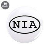 "NIA Oval 3.5"" Button (10 pack)"
