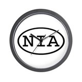 NIA Oval Wall Clock
