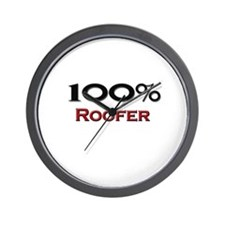 100 Percent Roofer Wall Clock