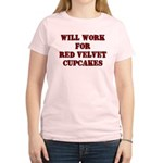 Will Work for Red Velvet Cupc Women's Light T-Shir