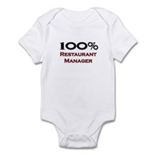 100 Percent Restaurant Manager Infant Bodysuit