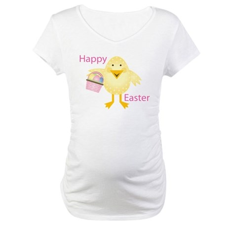 Happy Easter Chick Maternity T-Shirt