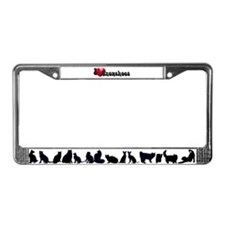 'I Love Snowshoes!' License Plate Frame