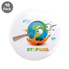 "Earth Skewer 3.5"" Button (10 pack)"